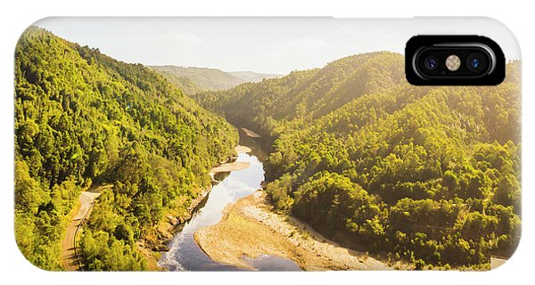 Industry iPhone Case - Hydropower Valley River by Jorgo Photography - Wall Art Gallery