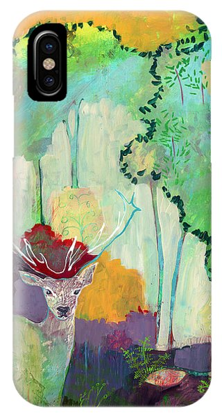 Stag iPhone Case - I Am The Meadow In The Forest by Jennifer Lommers