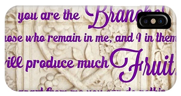 "Design iPhone Case - ""i Am The True Grapevine, And My by LIFT Women's Ministry designs --by Julie Hurttgam"