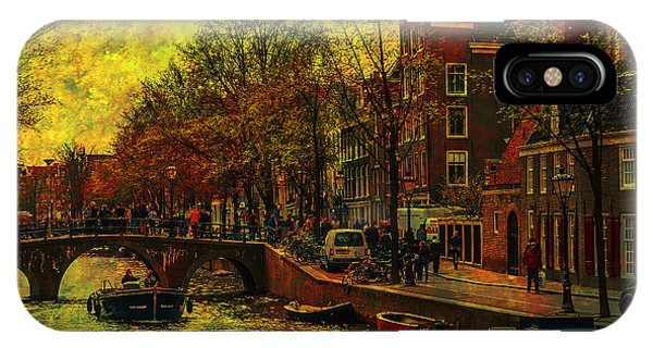 I Amsterdam. Vintage Amsterdam In Golden Light IPhone Case