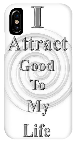 I Attract Silver IPhone Case