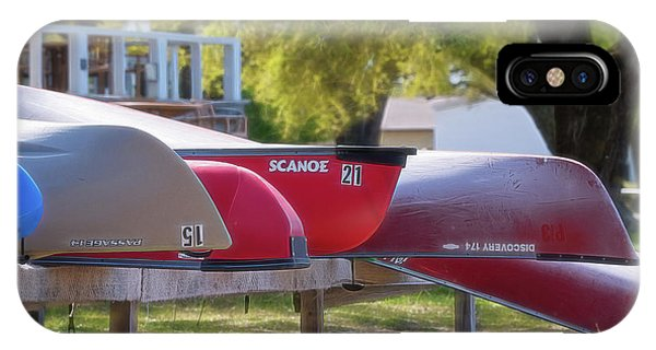I Believe I'll Go Canoeing IPhone Case