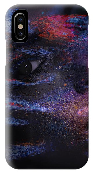 IPhone Case featuring the digital art I Breathe Art Therefore I Am Art by ISAW Company