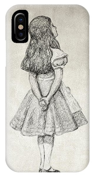 Alice In Wonderland iPhone Case - I Can't Go Back To Yesterday Quote by Zapista