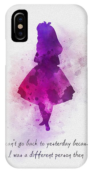 Alice In Wonderland iPhone Case - I Can't Go Back To Yesterday by Rebecca Jenkins