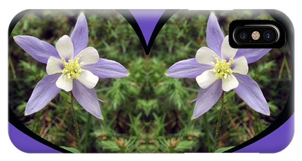 I Chose Love With A Heart Filled With Columbines IPhone Case