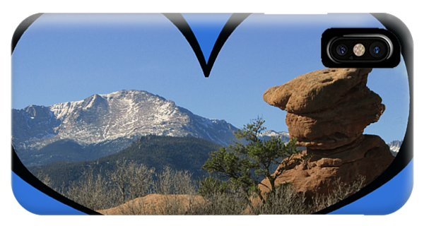 I Chose Love With A Joyful Dancer And Pikes Peak In A Heart IPhone Case