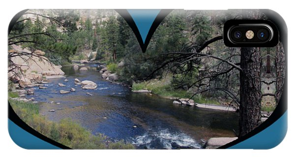 I Chose Love With A River Flowing In A Heart IPhone Case