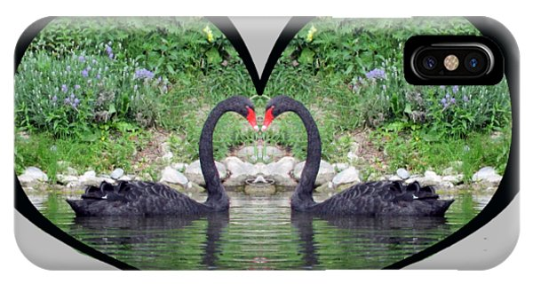 I Chose Love With Black Swans Forming A Heart IPhone Case