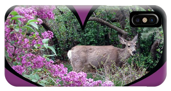 I Chose Love With Deers Among Lilacs In A Heart IPhone Case