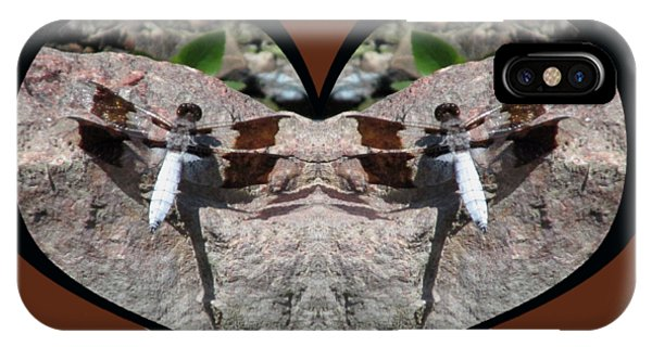 I Chose Love With Dragonflies On A Rock IPhone Case