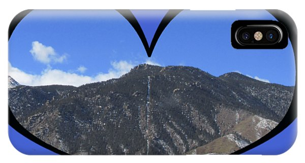 I Choose Love With The Manitou Springs Incline In A Heart IPhone Case