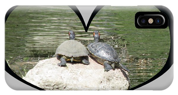 I Chose Love With Two Turtles Snuggling IPhone Case