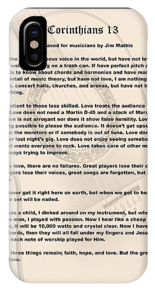 I Corinthians 13 Paraphrase IPhone Case