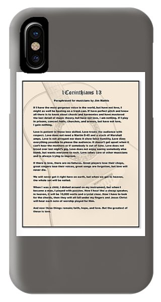 I Corinthians 13 Paraphrase IPhone Case