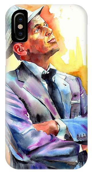 Frank Sinatra iPhone Case - I Did It My Way by Suzann's Art