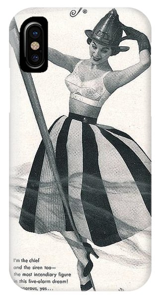 iPhone Case - I Dreamed I Was A Fireman In My Maidenform Bra by Reinvintaged
