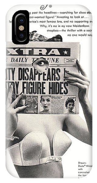 iPhone Case - I Dreamed I Was  Private Eye In My Maidenform Bra by Reinvintaged