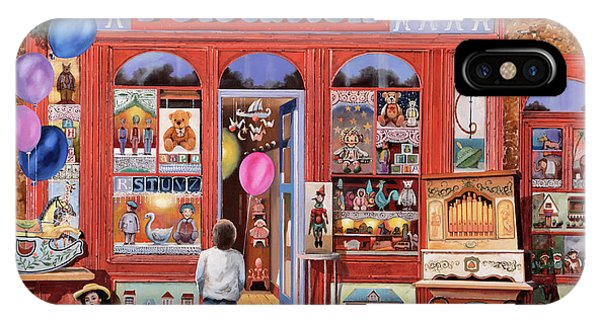 Toy Shop iPhone Case - I Giocattoli by Guido Borelli