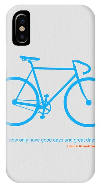 Bike iPhone Case - I Have Only Good Days And Great Days by Naxart Studio