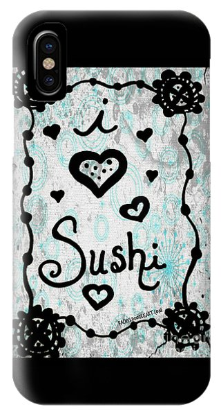 I Heart Sushi IPhone Case