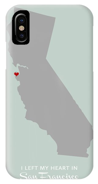 I Left My Heart In Sf IPhone Case