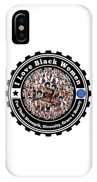 I Love Black Women IPhone Case