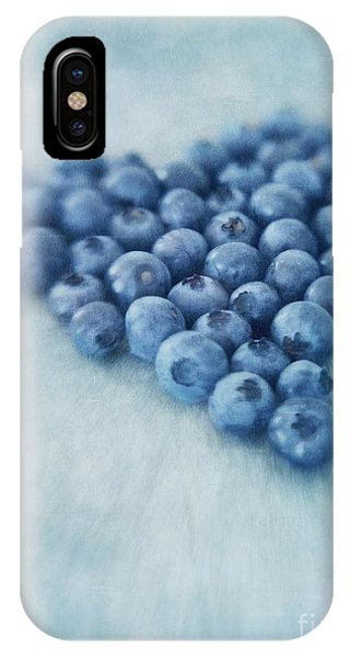 Blue Berry iPhone Case - I Love Blueberries by Priska Wettstein