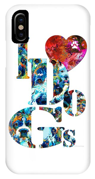 I Love Dogs By Sharon Cummings IPhone Case
