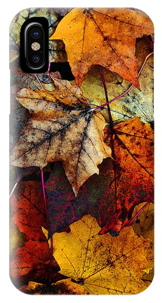 Red iPhone X Case - I Love Fall 2 by Joanne Coyle