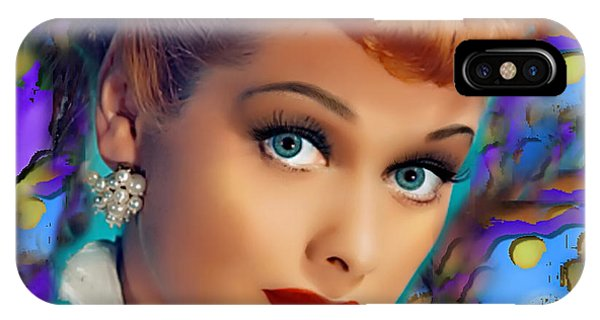 Child Actress iPhone Case - I Love Lucy by Karen Showell