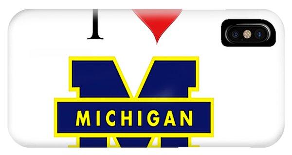 I Love Michigan IPhone Case