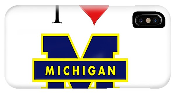 I Love Michigan IPhone Case