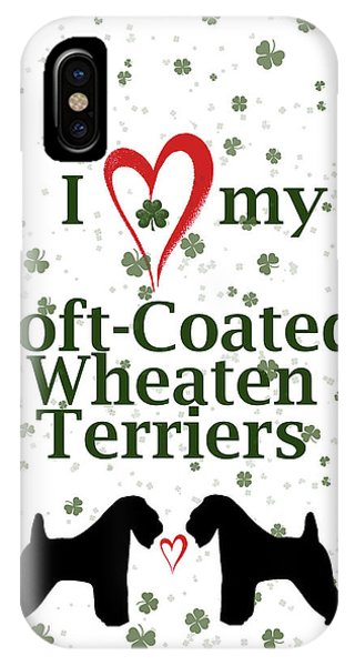 Irish iPhone Case - I Love My Soft Coated Wheaten Terriers by Rebecca Cozart
