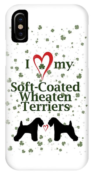 I Love My Soft Coated Wheaten Terriers IPhone Case