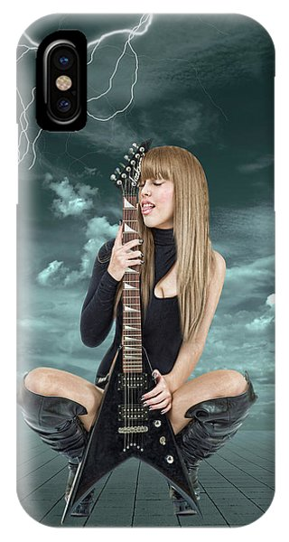 Rock And Roll iPhone X / XS Case - I Love Rock And Roll by Smart Aviation