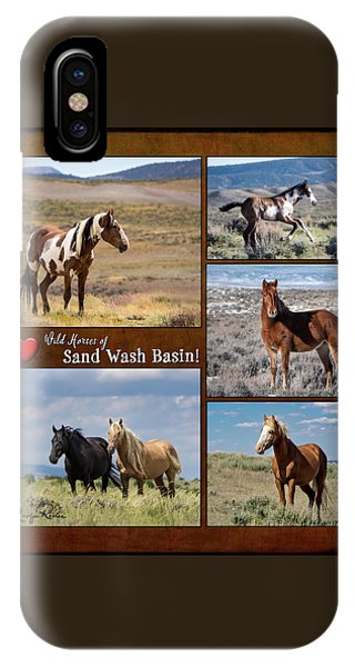 I Love Wild Horses Of Sand Wash Basin IPhone Case