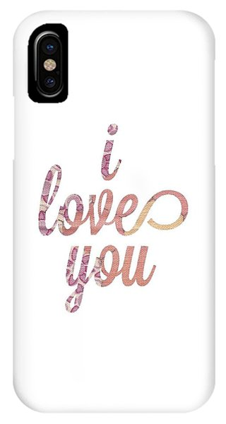 Simple iPhone Case - I Love You by Desiree Warren
