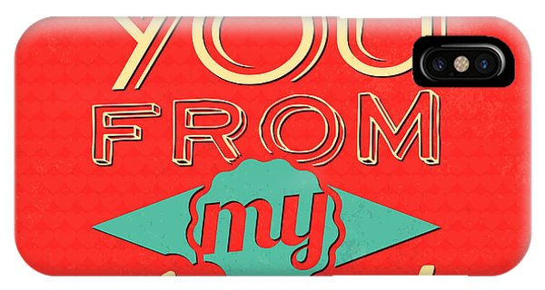 Witty iPhone Case - I Love You From My Heart by Naxart Studio