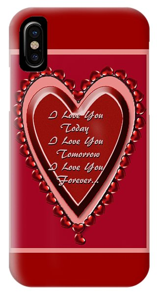 iPhone Case - I Love You by Michelle Audas