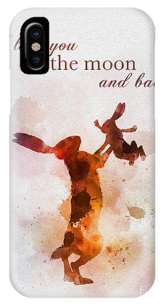 Guess iPhone Case - I Love You To The Moon And Back by My Inspiration