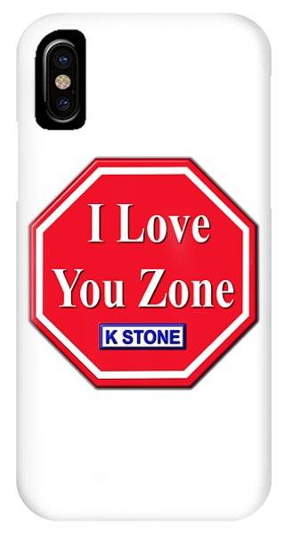 iPhone Case - I Love You Zone by K STONE UK Music Producer