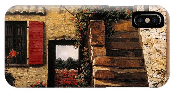 Poppies iPhone Case - I Papaveri Attraverso La Porta by Guido Borelli
