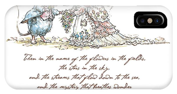 Ceremony iPhone Case - I Pronounce You Mouse And Wife by Brambly Hedge