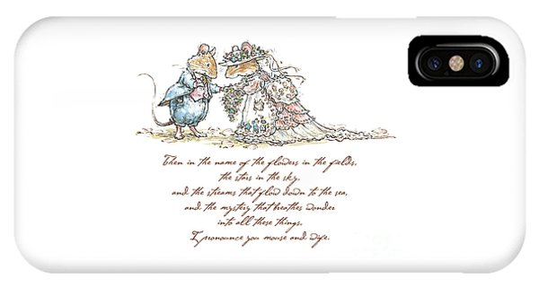 I Pronounce You Mouse And Wife IPhone Case