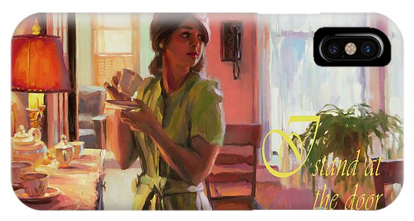 Modern iPhone Case - I Stand At The Door And Knock by Steve Henderson
