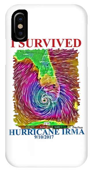 iPhone Case - I Survived Hurricane Irma by Carey Chen