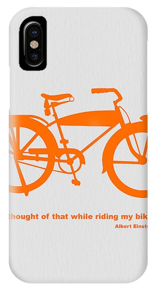 Cartoon iPhone Case - I Thought Of That While Riding My Bike by Naxart Studio