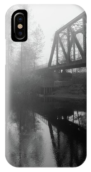 Trestle iPhone Case - I Tried To Catch The Fog But I Mist by Bridget Calip