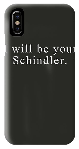 Jewish Humor iPhone Case - I Will Be Your Schindler- Art By Linda Woods by Linda Woods